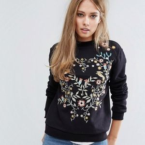 Warehouse (ASOS) Embroidered Sweater M